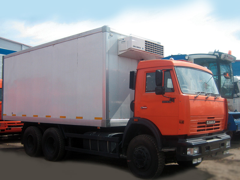 Изотермический фургон на базе шасси КАМАЗ 65115 с установкой Thermo King